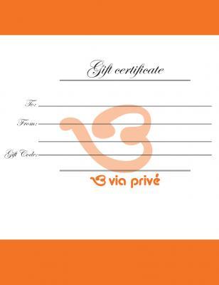 Via Privé Gift Certificate