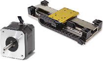 A stepper motor and a linear motor