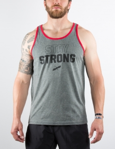MENS GREY STAY STRONG TANK