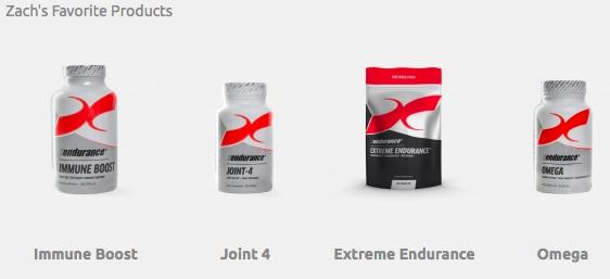 Zach Bitter's Favorite Xendurance supplements