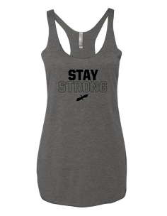 WOMENS GREY STAY STRONG TANK