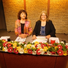 Roz Rubin and Maria Sheehan, Executive Director of WCAC-TV, host the first segment of our