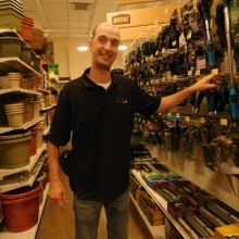 Adam hard at work at his job at True Value by Ideal!
