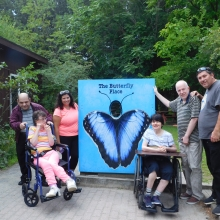Day Habilitation participants visit The Butterfly Place!