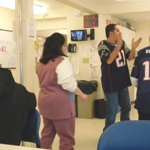 Participants and staff enjoyed a    rousing pre-Super Bowl Party.