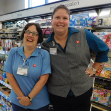 Renee Allain celebrates 19 years of working at Walgreens on Weston Street in Waltham!