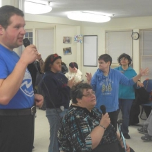 Pizza and Karaoke, held in February, was a very popular Recreation activity!