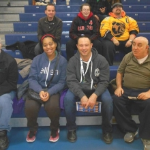 Recreation Program participants enjoy a basketball game at Bentley University.