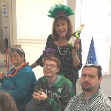 New Year's Eve came early with party hats and celebrations at Chestnut Street and Woodland Road on December 29.