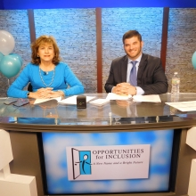 Roz Rubin, GWArc CEO, and David Felton, Rockland Trust Vice President, kick off the live TV auction! Rockland Trust People's Federal Foundation Inc. was Premier Sponsor of the auction.