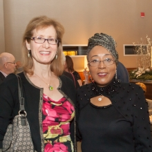 GWArc Day Habilitation staff members Liz Cavano and Rhonda Fleming enjoy the festivities.