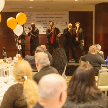 Ball in the House, a Boston-based professional a capella group, performs.