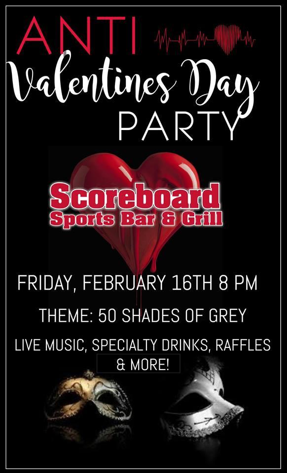 Anti Valentines Day At Scoreboard Sports Bar Grill Sports Bar
