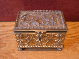 Antique Bronze Box