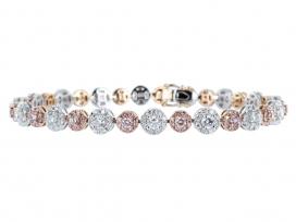 4.02ctw Natural Pink Diamond Bracelet