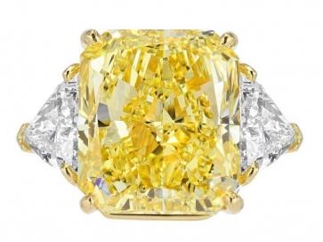 21.07ct GIA FY VS2 Canary Diamond Ring, signed Bulgari