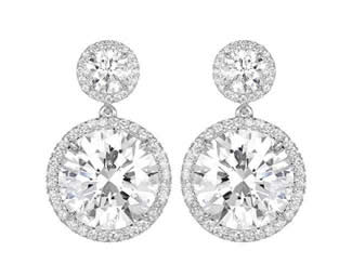 12.02ct Diamond Drop Earrings