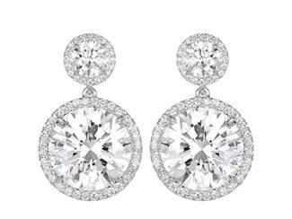 12.02ct Diamond Drop Earrings