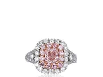 1.00ct Natural Pink Diamond Ring