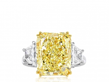 9.37ct FY SI1 Radiant Cut Canary Diamond Ring