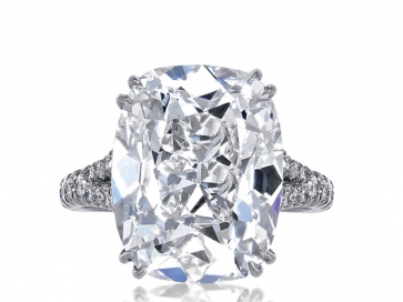 8.50ct F/VS2 GIA Cushion Cut Diamond Ring