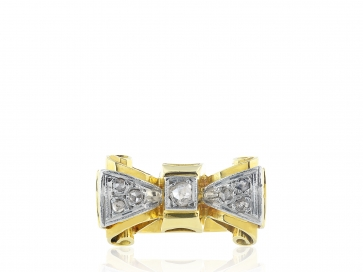 Diamond Bow Shape Estate Ring
