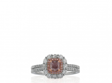 .53ct Cushion Cut Pink Diamond Ring