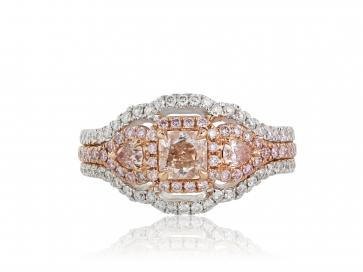 .47 Pink Diamond Halo Ring