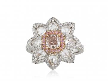2.12tdw Pink Diamond Cocktail Ring
