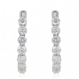 2.05 Carat Diamond Hoop Earrings