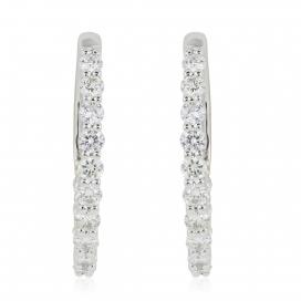 1.00 Carat Diamond Hoop Earrings