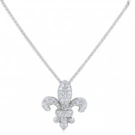 .87 Carats Diamond Fleur De Lis Pendant