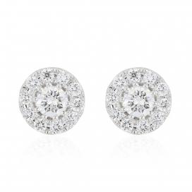 .25ct Cluster Diamond Stud Earrings
