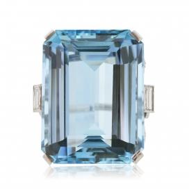 51.67 Carat IGI Certified Aquamarine Ring