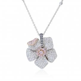 3.10 Carat Pink Diamond Blossom Pendant