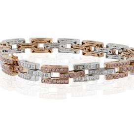 5.00 Carat White and Pink Diamond Bracelet