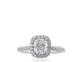 1.08ct I/VS2 Cushion Cut Diamond Ring