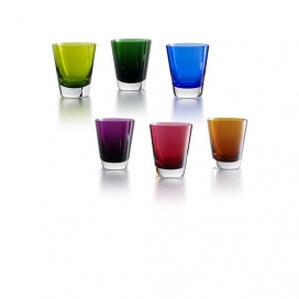 Baccarat Mosaique Set of 6 Colorful Glasses