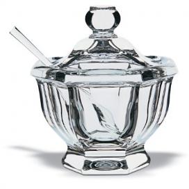 Baccarat Missouri Mustard Jar With Spoon