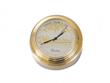 Chelsea Swanboat Button Clock