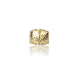18KYG .25CTW Diamond Wide Flat Ring