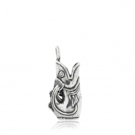 Hand & Hammer Gurgling Cod Charm in Sterling Silve