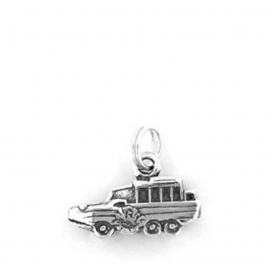 Hand & Hammer Duck Boat Charm in Sterling Silver