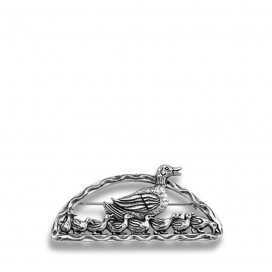 Hand & Hammer Duckling Pin in Sterling Silver