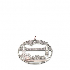 Hand and Hammer Swanboat Vista Ornament Sterling Silver