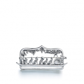 Hand & Hammer Swanboat Pin in Sterling Silver