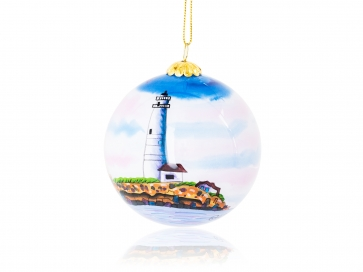 Kanin Press Boston Light Ornament