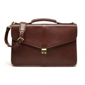 Lotuff Lock Briefcase Chestnut