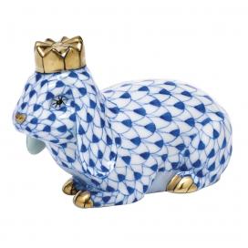 Herend Sapphire Porcelain Royal Bunny Figurine