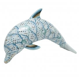 Herend Reserve Multicolor Porcelain Dolphin
